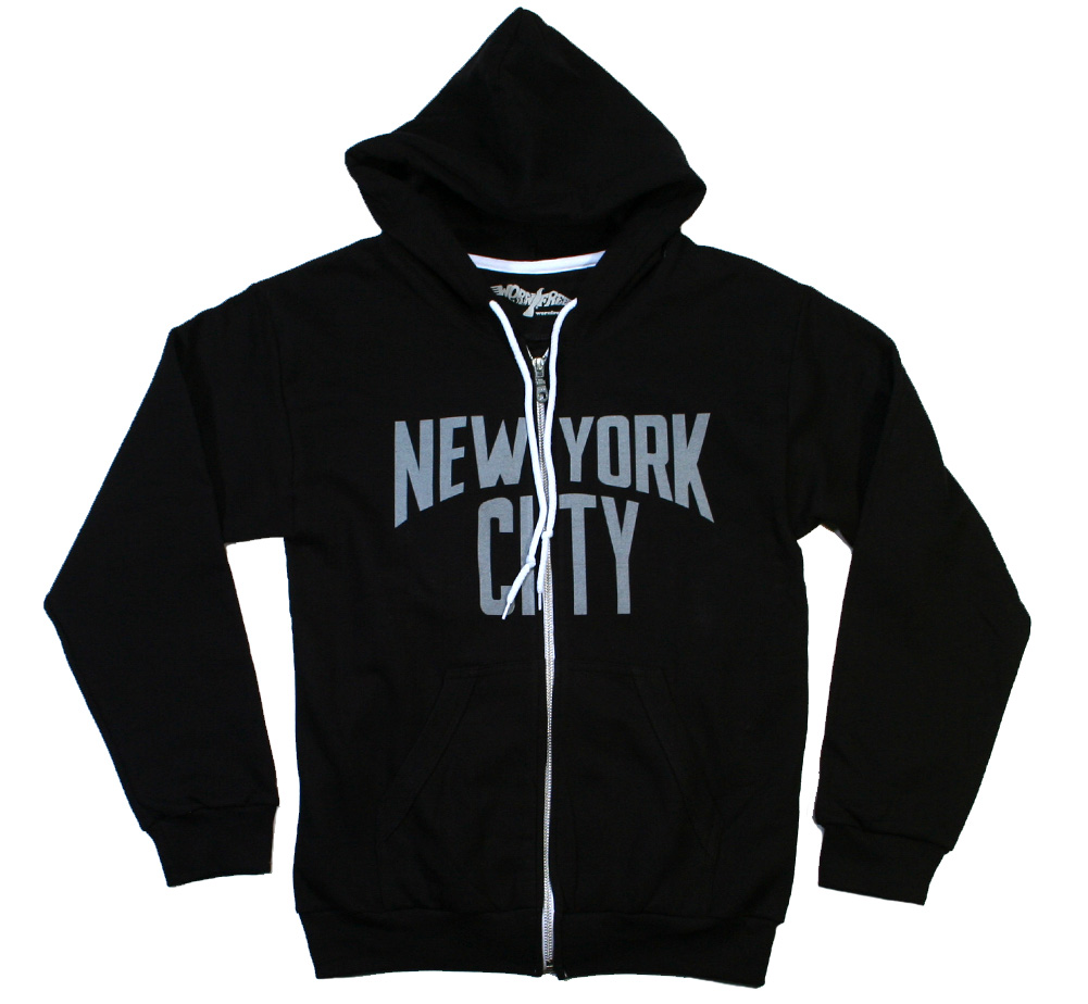 【Worn Free】 John Lennon / New York City Zipper 2 (Black)