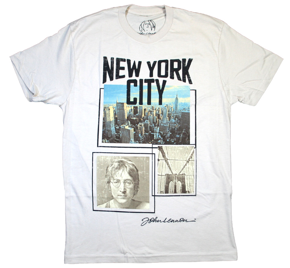 John Lennon / New York City Photo Tee (Beige)