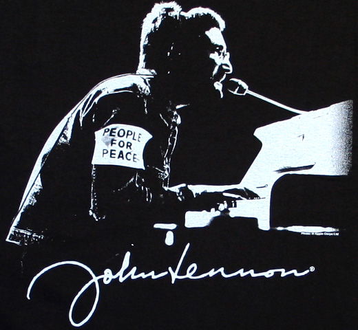 John Lennon / People for Peace Tee (Black)
