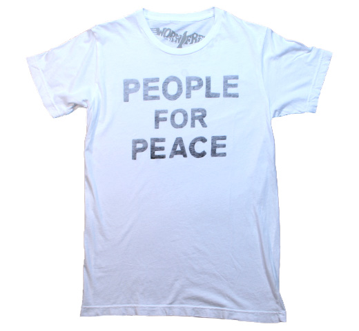 【Worn Free】 John Lennon / People For Peace Tee (White)