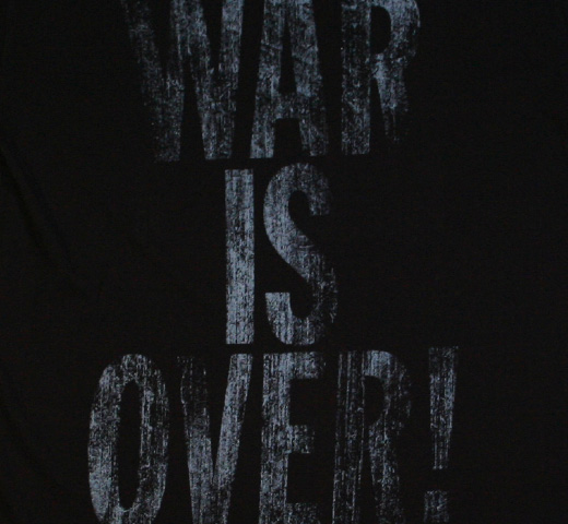 【English Laundry】 John Lennon / War Is Over Tee (Black)