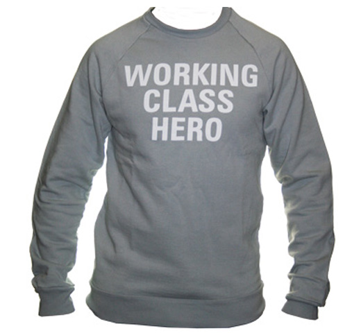 【Worn Free】 John Lennon / Working Class Hero Sweatshirt (Grey)