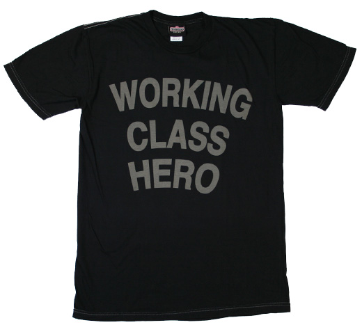 John Lennon / Working Class Hero Tee (Black)