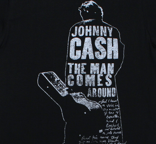 Johnny Cash / The Man Comes Around Tee (Black)