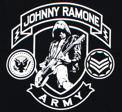 Johnny Ramone / Johnny Ramone Army Tee (Black)