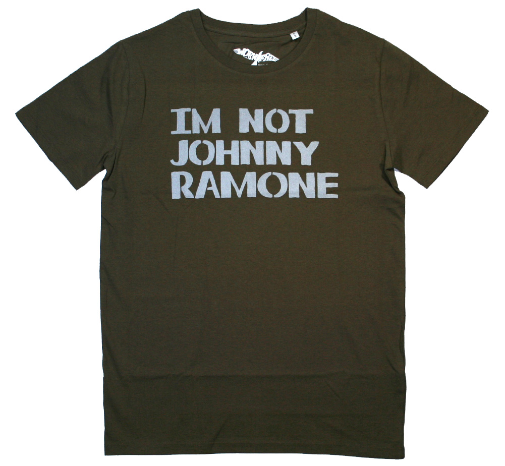 【Worn Free】 Johnny Ramone / Im Not Johnny Ramone Tee (Olive)