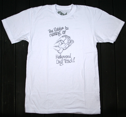 【Worn Free】 Johnny Ramone / Hollywood Rabbit Tee (White)