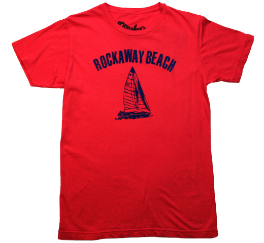 【Worn Free】 Johnny Ramone / Rockaway Beach Tee (Red)