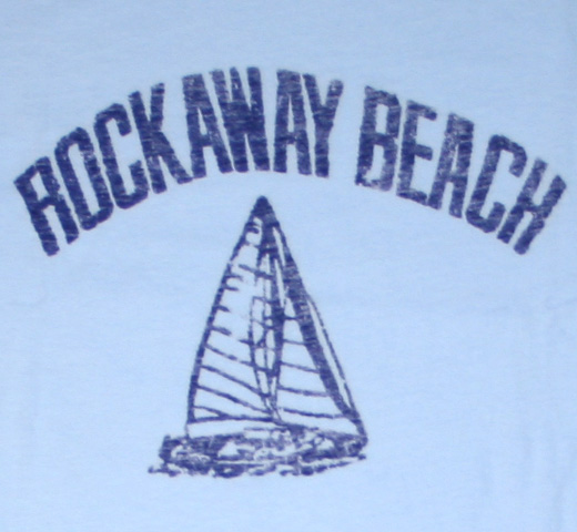 【Worn Free】 Johnny Ramone / Rockaway Beach Tee (Light Blue)
