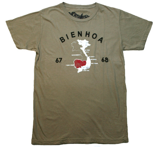 【Worn Free】 Johnny Thunders / Bienhoa Tee (Olive)