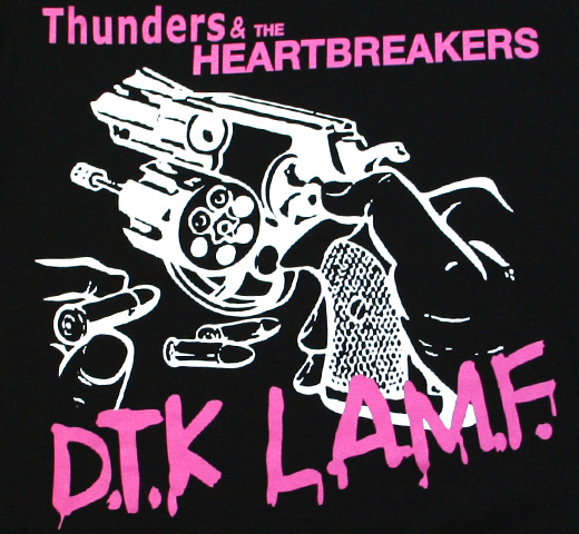 Johnny Thunders & The Heartbreakers / Pistol Tee (Black)