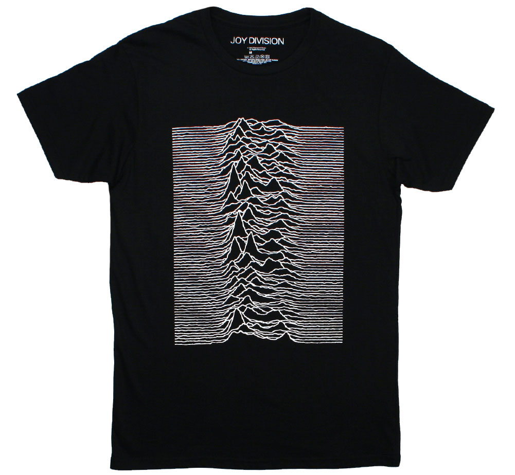 Joy Division / Unknown Pleasures Tee 4 (Black)