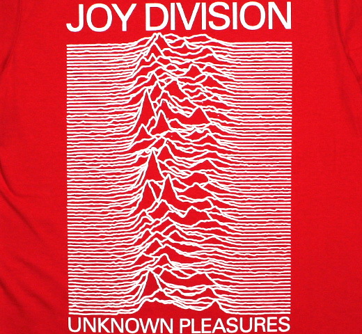 Joy Division / Unknown Pleasures Tee 5 (Red)
