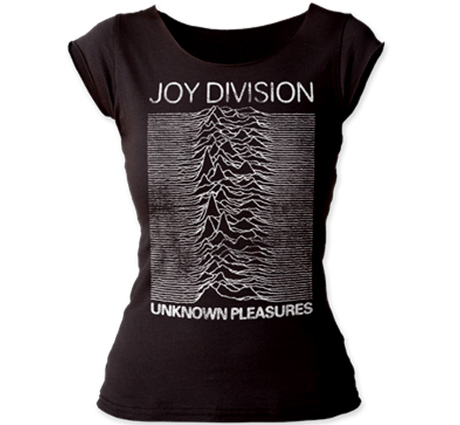 Joy Division / Unknown Pleasures Cut Tee (Black) (Womens)