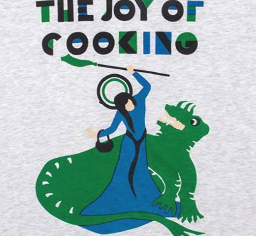 【Out of Print】 Irma S. Rombauer / The Joy of Cooking V-Neck Tee (Heather White) (Womens)