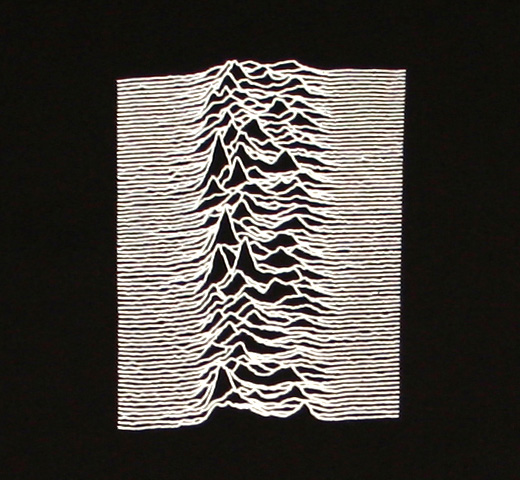 Joy Division / Unknown Pleasures Tee 1 (Black)