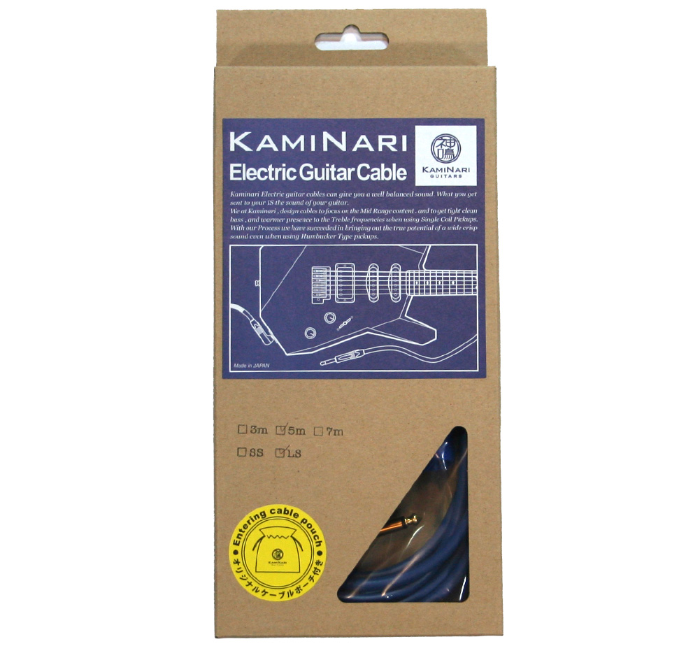 【KAMINARI GUITARS】 Electric Guitar Cable [K-GC5SS] (SS / 5m)