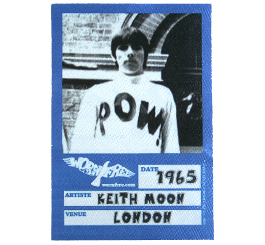 【Worn Free】 Keith Moon / POW! Tee (Light Blue)