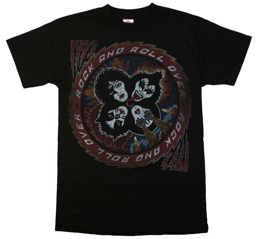 Kiss / Rock And Roll Tee (Black)