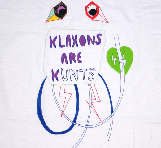 Klaxons / klaxons are Kunts Tee