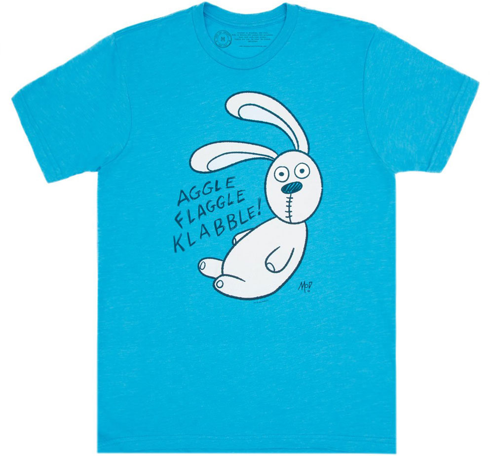 [Out of Print] Mo Willems / Knuffle Bunny Tee (Vintage Turquoise)