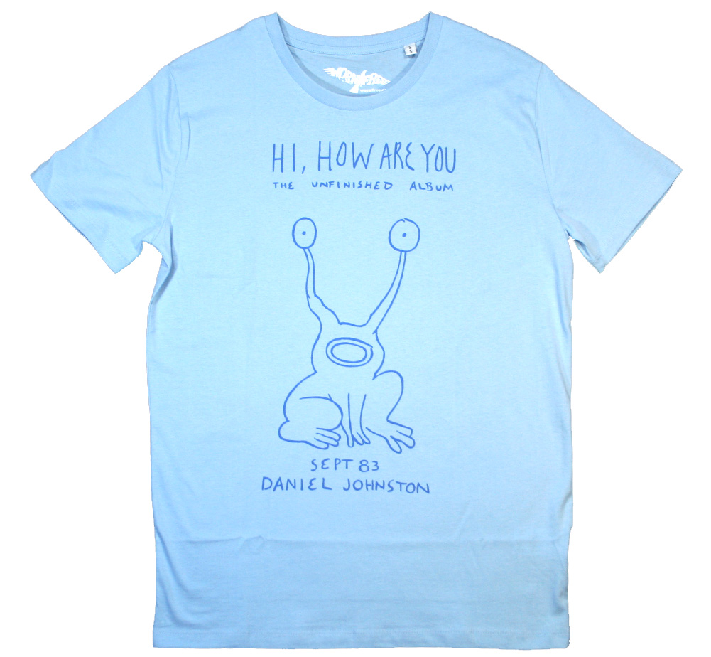 【Worn Free】 Kurt Cobain / Hi How Are You Tee (Sky Blue)