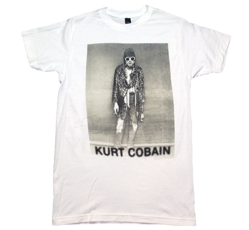 Kurt Cobain / Leopard Photo Tee (White)