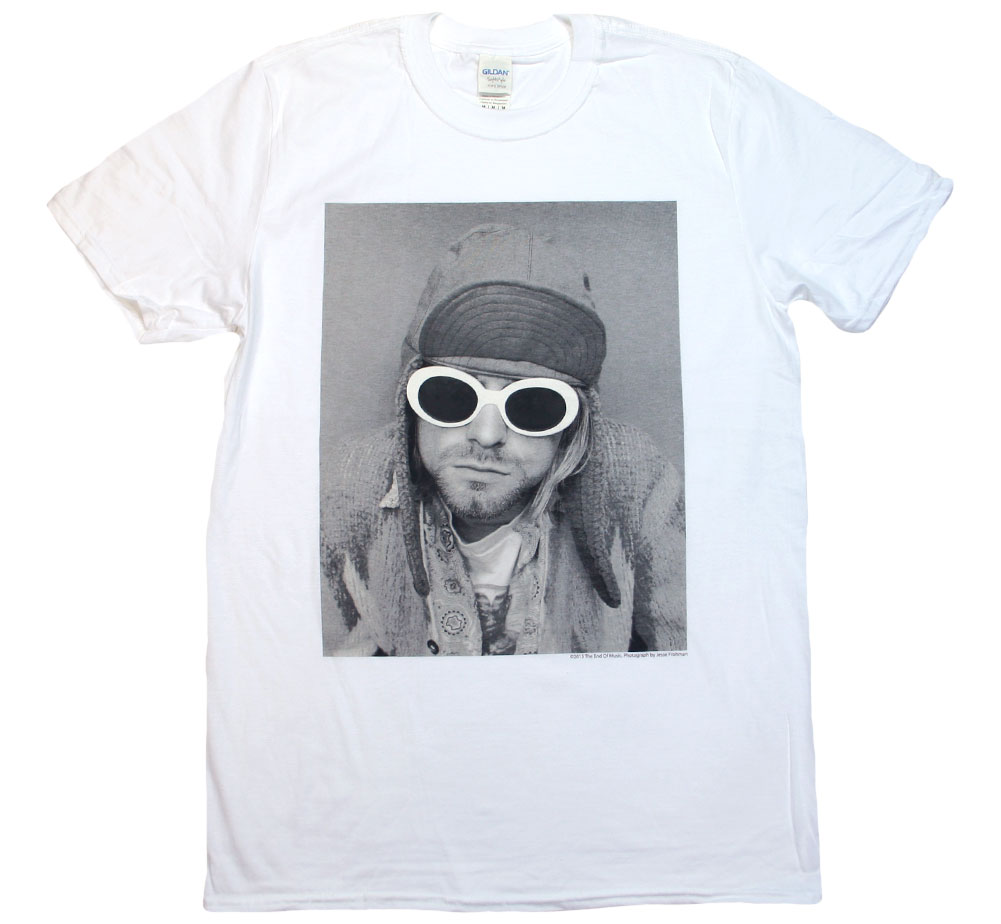 Kurt Cobain / Sunglasses Photo Tee (White)