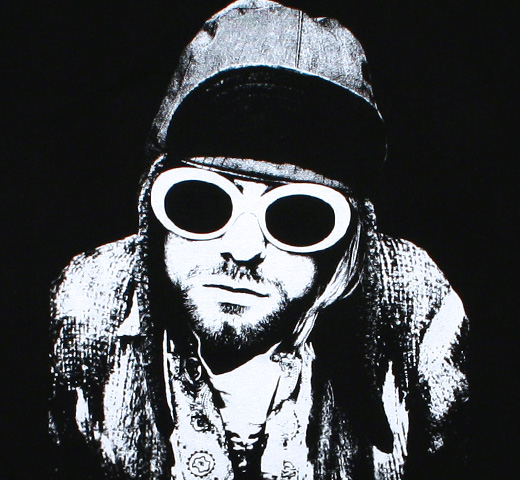 Kurt Cobain / Sunglasses Photo Tee 2 (Black)