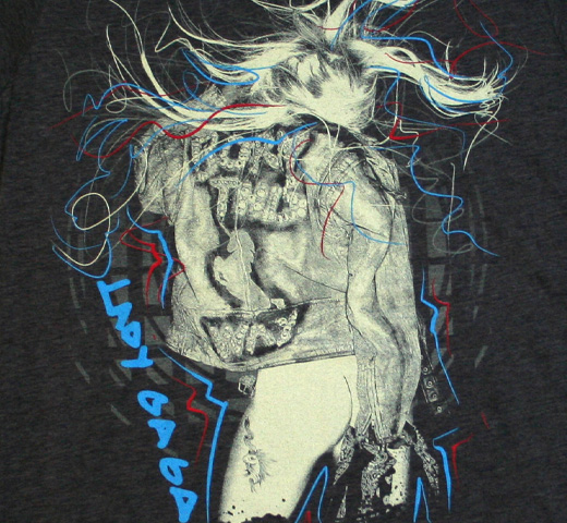 Lady Gaga / Scribbles Tee (Heather Grey)