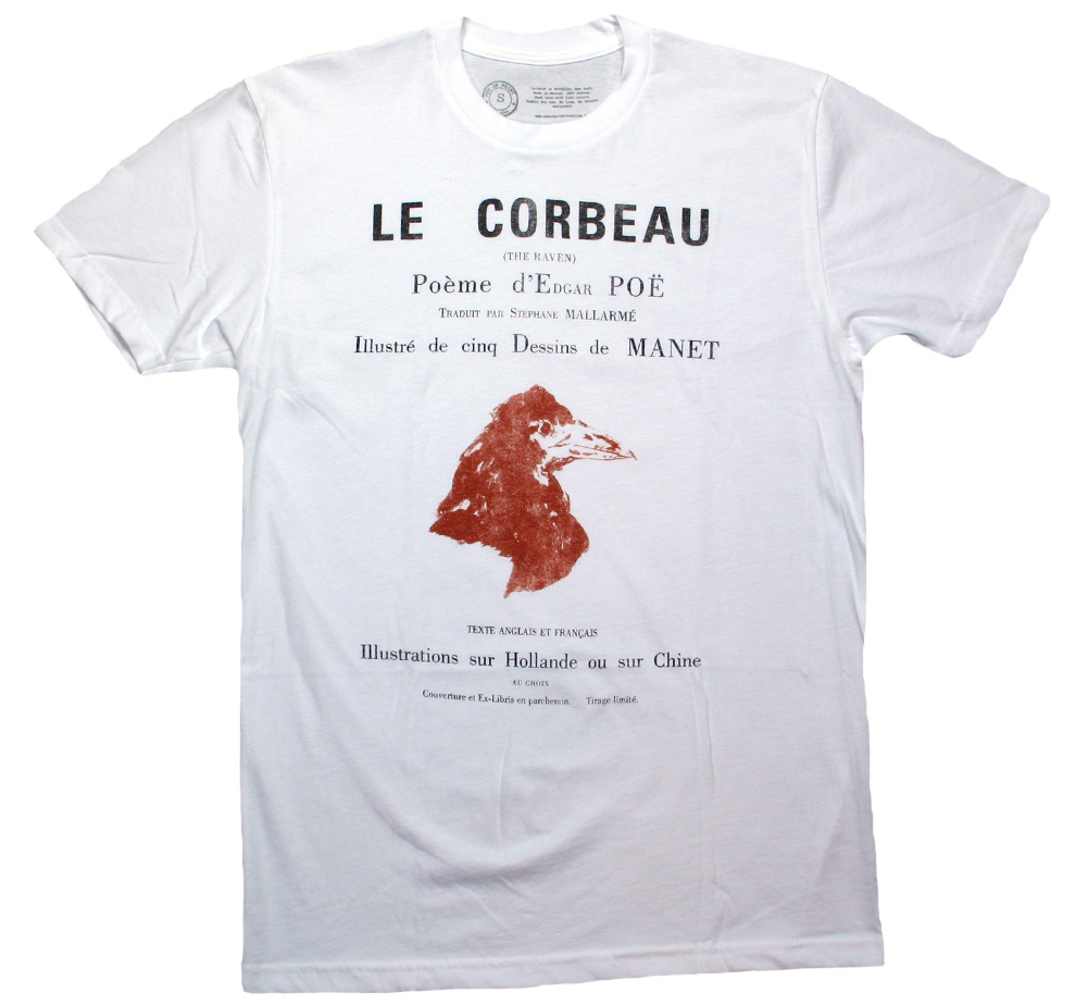 [Out of Print] Edgar Allan Poe / Le Corbeau Tee 2 (White)