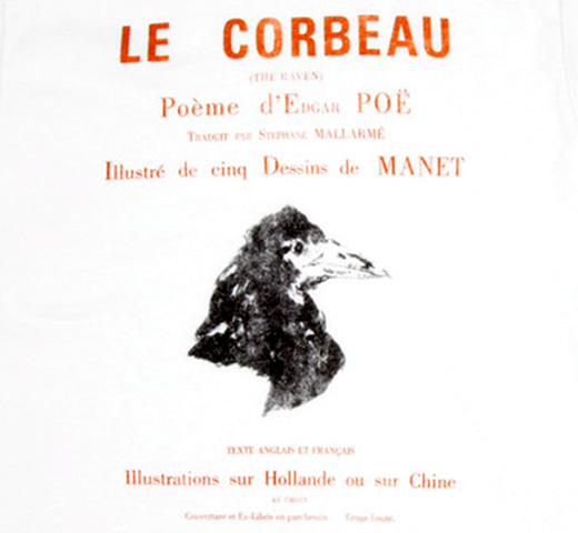 【Out of Print】 Edgar Allan Poe / Le Corbeau Tee (White)