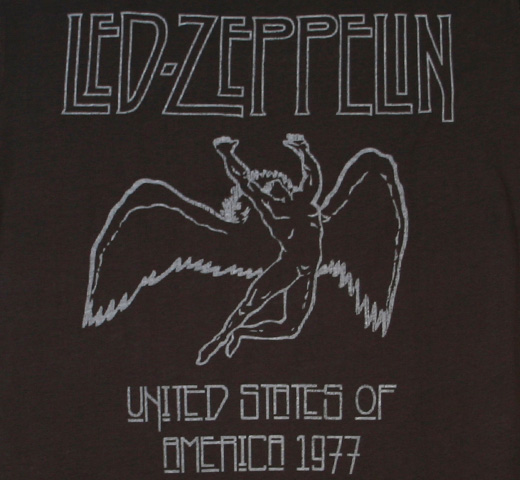 【Amplified】 Led Zeppelin / USA 1977 Tee (Charcoal) (Womens)
