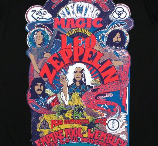 Led Zeppelin / Electric Magic Tee 2 (Black)