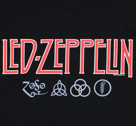 Led Zeppelin / Logo and Symbols Tee (Black)
