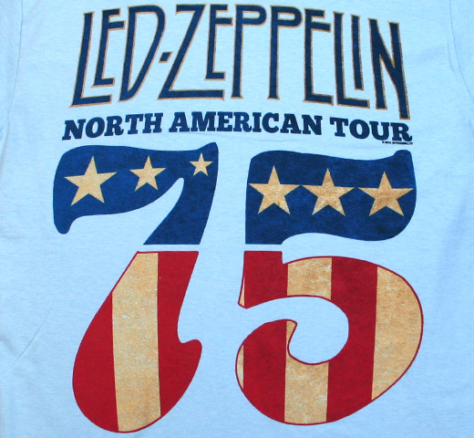 Led Zeppelin / North American Tour 75 Tee (Light Blue)