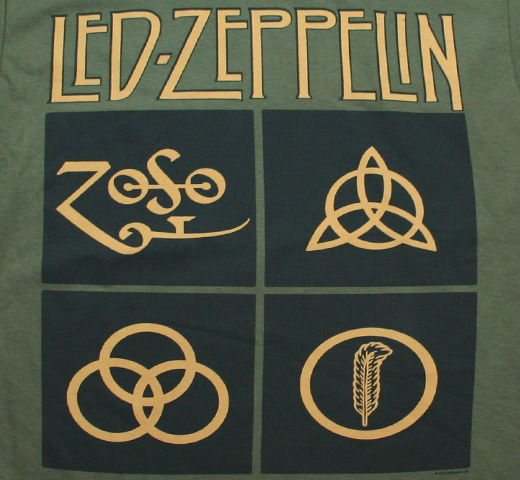 Led Zeppelin / Symbols Tee (Army Green)