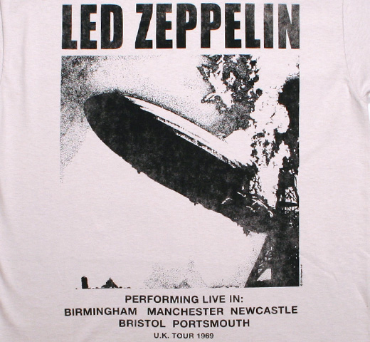 Led Zeppelin / U.K. Tour 1969 Tee (Grey)