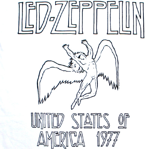 Led Zeppelin / USA 1977 Tee (White) (Womens)