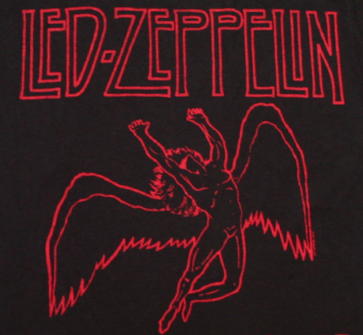 Led Zeppelin / USA 1977 Tee (Black / Red)