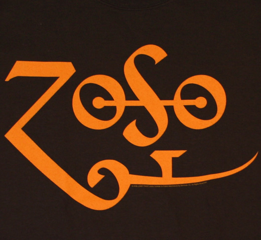 Led Zeppelin / Jimmy Page Zoso Tee (Brown / Yellow)