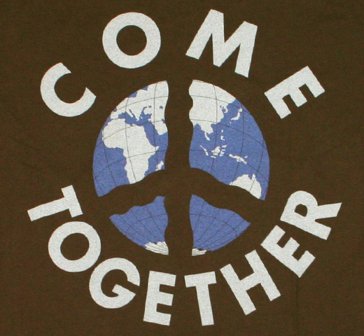 【Worn Free】 John Lennon / Come Together Tee (Olive)