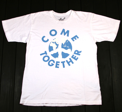 【Worn Free】 John Lennon / Come Together Tee (White)