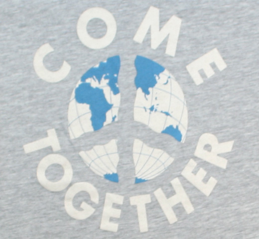 【Worn Free】 John Lennon / Come Together Tee (Heather Grey)