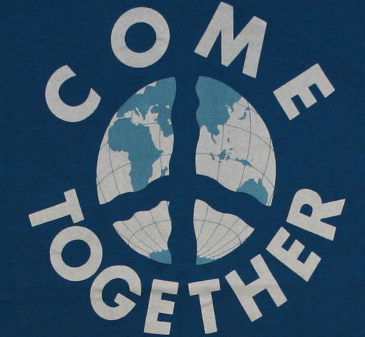 【Worn Free】 John Lennon / Come Together Tee (Royal Blue)