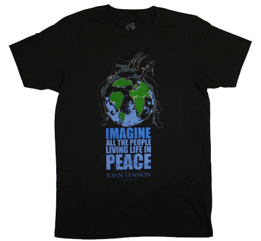 【English Laundry】 John Lennon / Global Unity Tee (Black)