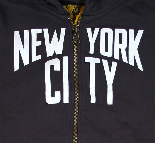 【Worn Free】 John Lennon / New York City Zipper (Black)