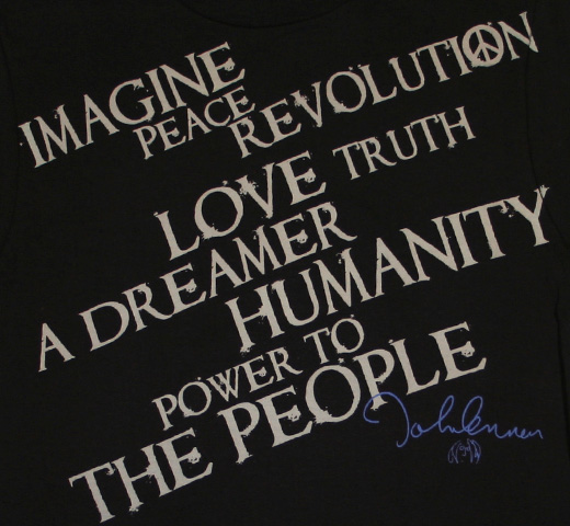 【English Laundry】 John Lennon / Words of Wisdom Tee (Black)
