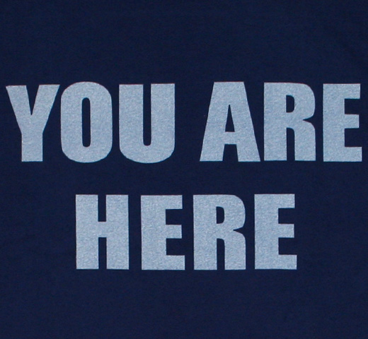 【Worn Free】 John Lennon / You Are Here Tee (Navy)