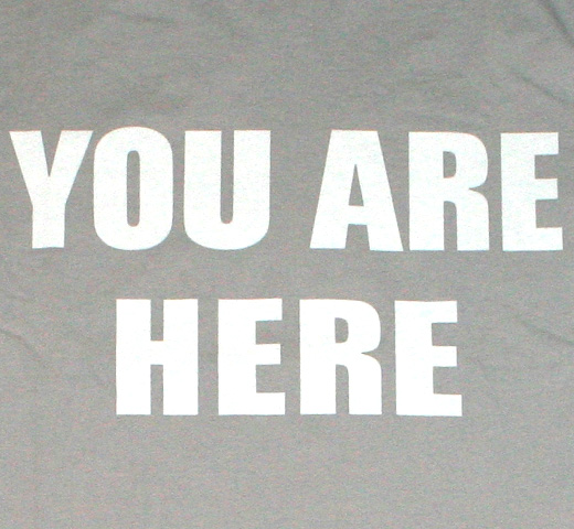 【Worn Free】 John Lennon / You Are Here Tee (Grey)